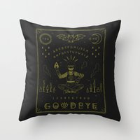 ouija Throw Pillows featuring Ouija Board by LordofMasks