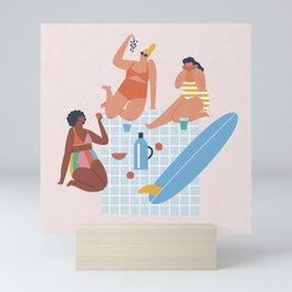 Surf sistas Mini Art Print