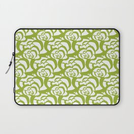Green Floral Clouds Laptop Sleeve
