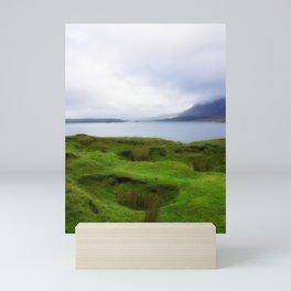 green grass carpet Mini Art Print