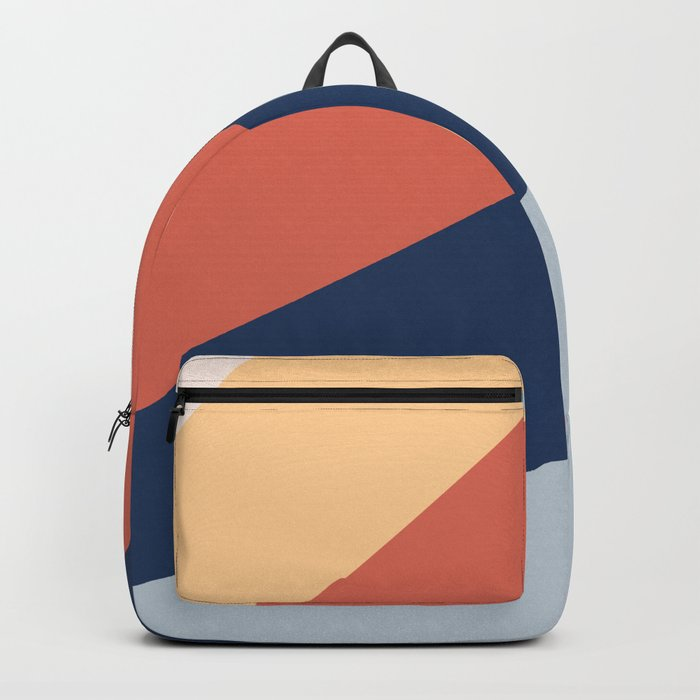 Abstract modern geometrical print color Backpack