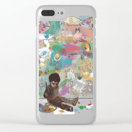 i was born to be an artist Clear iPhone Case