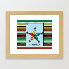 Christmas Loteria La Estrella Framed Art Print