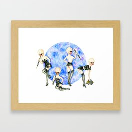 Pin-up Modal Nodes Framed Art Print