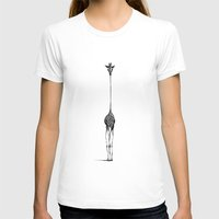 happy T-shirts featuring Giraffe by Nicole Cioffe