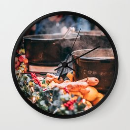 Christmas Market Relaxation Wall Clock