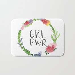 GRL PWR flowers Bath Mat
