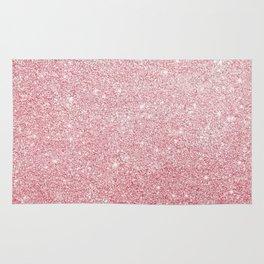 Rose-gold faux glitter Rug