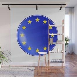 EU Button Wall Mural