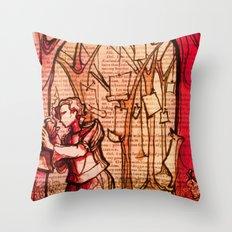 As You Like It - Shakespeare Romance Folio Illustration Throw Pillow