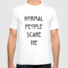 Normal People Scare Me Mens Fitted Tee White MEDIUM