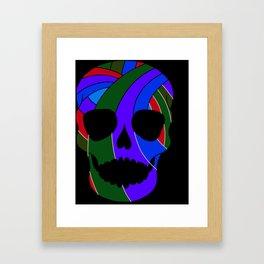 Rainbow Skull Icon Framed Art Print