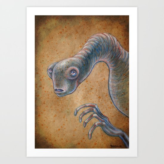 Medieval monster XV Art Print