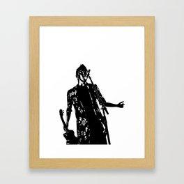 Black and white Tyler Framed Art Print