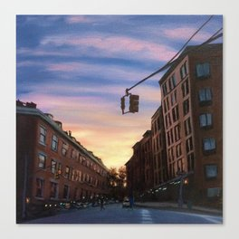 Chelsea Sunset, print of original oil painting Canvas Print