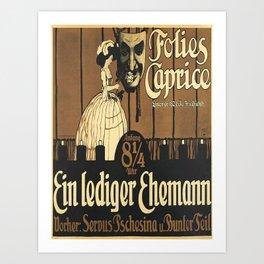 Plakat ein lediger ehemann folies caprice Art Print
