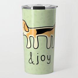 Cute Beagle Dog &joy Doodle Travel Mug