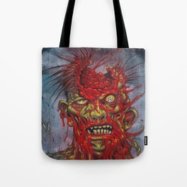 Zombie - With It's Brains Blown Out Tote Bag