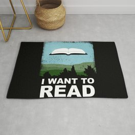 I Want to Read Rug
