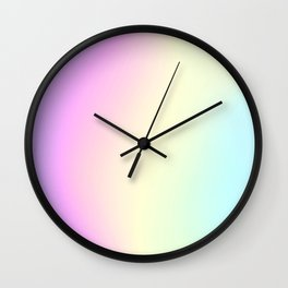 Holographic Texture #1 Wall Clock