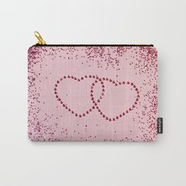 In Love Sparkling Glitter Hearts #2 #red #decor #art #society6 Carry-All Pouch