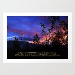 Serenity Prayer Spring Sunrise Art Print