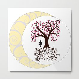 Swirls and a Swing Metal Print