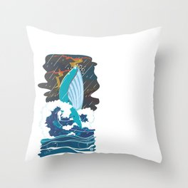 Whale Never Cry?  Throw Pillow