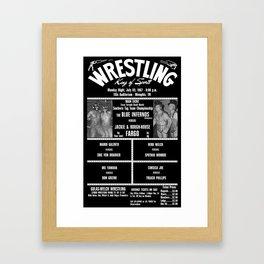 #17-B Memphis Wrestling Window Card Framed Art Print