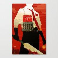 shaun of the dead Canvas Prints featuring Shaun Of The Dead by Duke Dastardly
