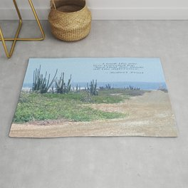 The Road Less Traveled (with quote) Rug