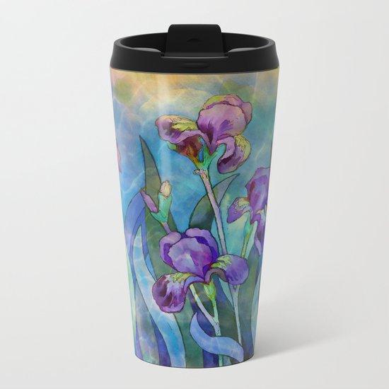 Fantasy Irises Metal Travel Mug