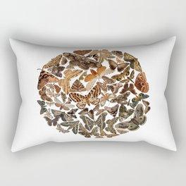 Moth circle Rectangular Pillow
