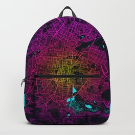 Mexico City Map - Neon Backpack
