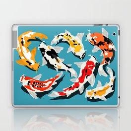 Colorful Koi Carps Swimming Around Laptop & iPad Skin