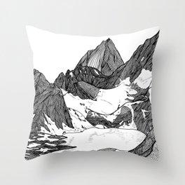 Cobalt Lake Throw Pillow