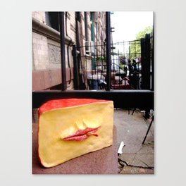 Smoking Cheese Canvas Print