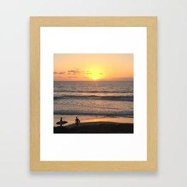 The Last Surf Framed Art Print
