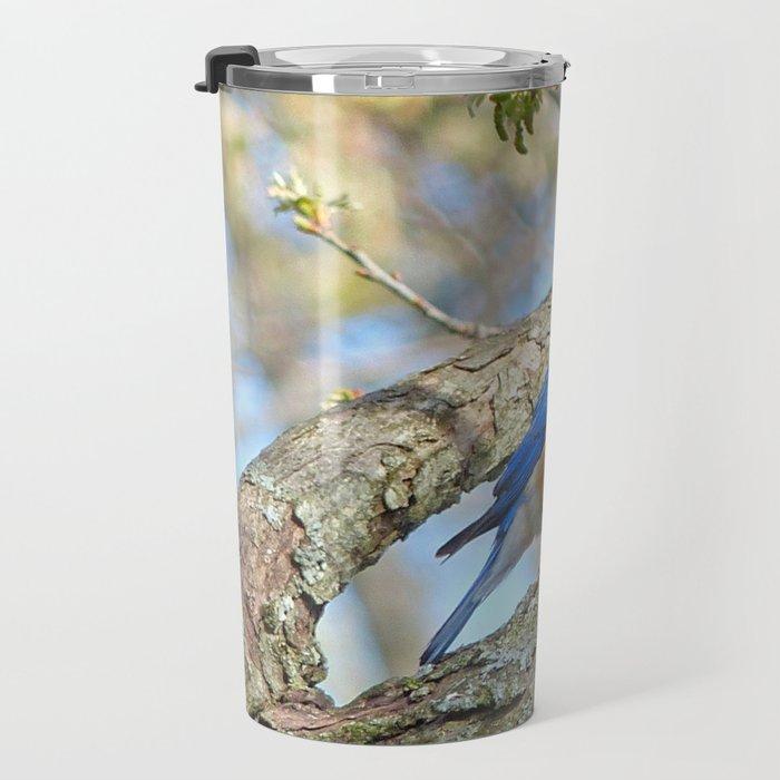 Bluebird in Tree Travel Mug