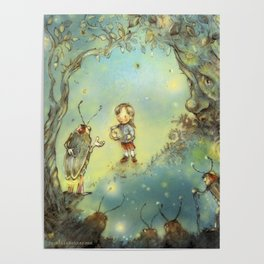 Firefly Forest Poster