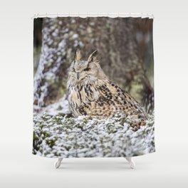 Western Siberian Eagle Owl Shower Curtain