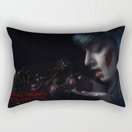 Halloween Nightmare Dead Flowers Rectangular Pillow