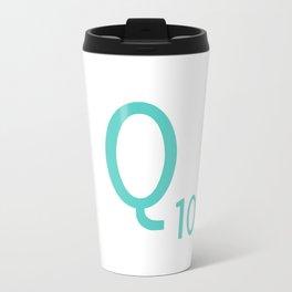 Blue Q Scrabble Art Initial Travel Mug