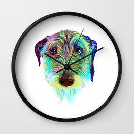 Splash Irish Wolfhound Dog Wall Clock