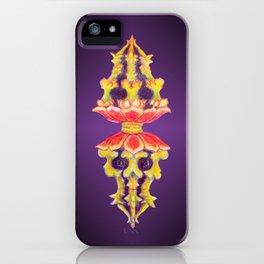 Lotus Skull Diamond Doilie iPhone Case