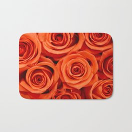 Delicate red roses Bath Mat