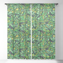Banana leaves Sheer Curtain