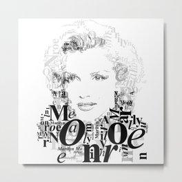 Typographic image Monroe Metal Print