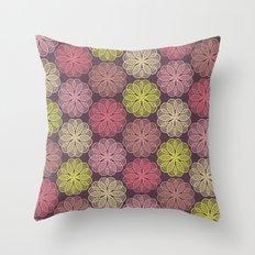 PAISLEYSCOPE flower Throw Pillow