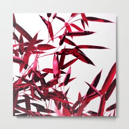 red bamboo abstract I Metal Print